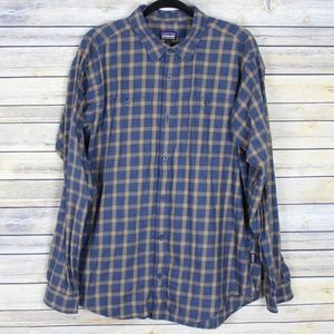 Patagonia Long-Sleeved Pima Cotton Plaid Shirt